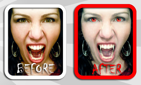 Vampire me before after