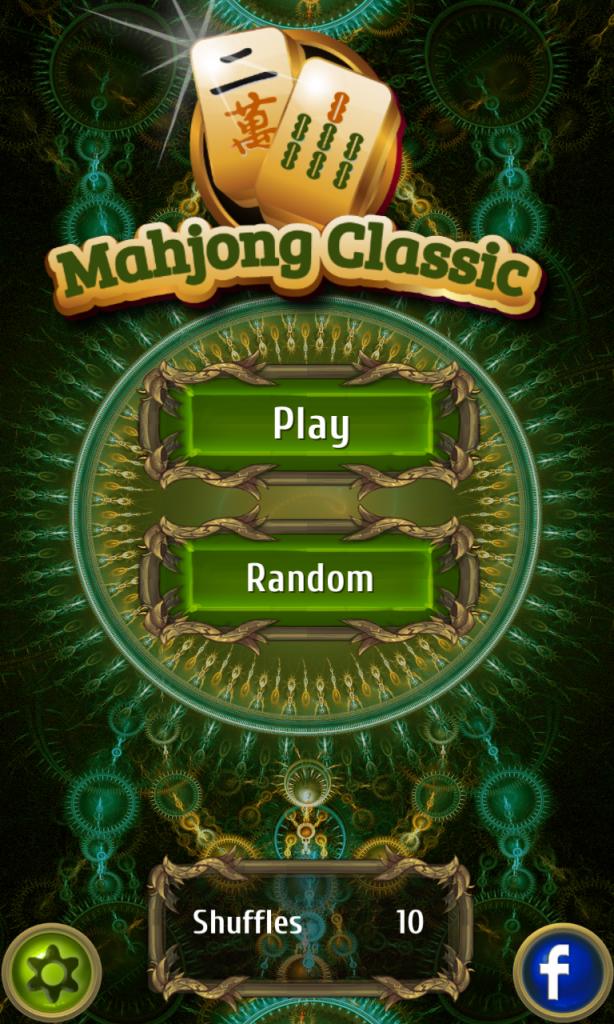 Mahjong Classic start screen